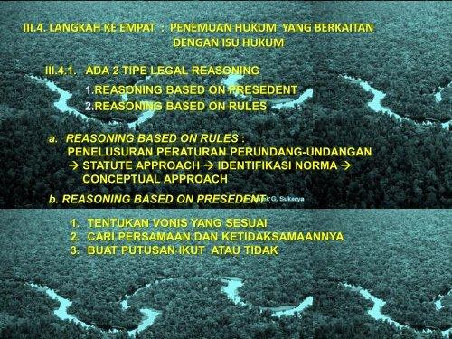 Penelusuran Penalaran Penemuan Hukum