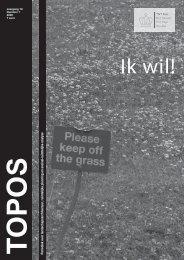 Periodiek over landschapsarchitectuur, ruimtelijke planning ... - Topos