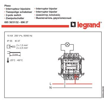 Plexo 695 00 legrand for Interrupteur legrand exterieur