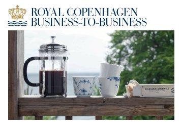 Se vores B2B brochure her - Royal Copenhagen