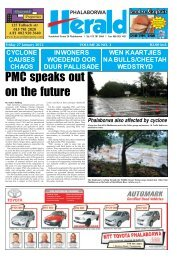 PMC speaks out on the future - Letaba Herald
