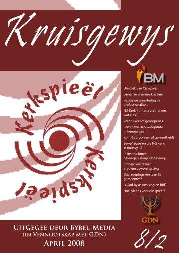 Kruisgewys 8/2 April 2008 - Klein Gemeentes