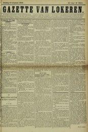 Zondag 14 Augusti 1898. 55° Jaar N° 2821. Lokeren 13 Aug.