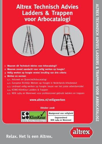 Altrex Technisch Advies Ladders & Trappen voor Arbocatalogi