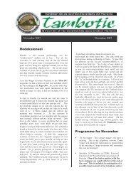 Redaksioneel Program m e for Novem ber - The Woodworking ...