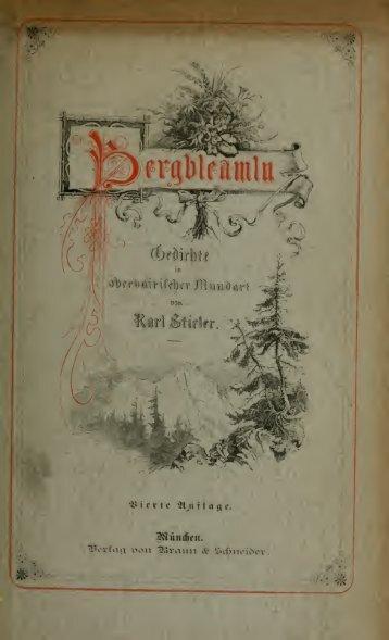 Bergbleamln, Gedichte in oberbairischer Mundart