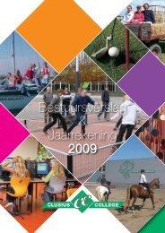 Bestuursverslag & Jaarrekening 2009 - Clusius College