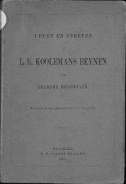 L. R. KOOLEMANS BEYNEN - the Aceh Books website