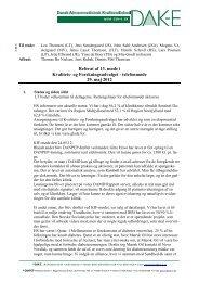 Referat af 13. møde i Kvalitets- og Forskningsudvalget ... - DAK-e