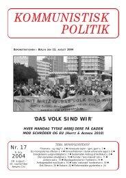 KP17, 2004 - Kommunistisk Politik