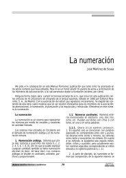 La numeración (José Martínez de Sousa)