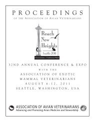 proceedings - AEMV Association of Exotic Mammal Veterinarians