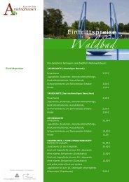 Eintrittspreise - Amelinghausen