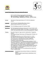 Ausschreibung zum Lehrgang 2010