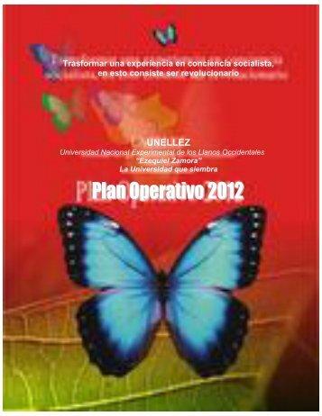 Plan Operativo 2012 - Postgrado de la UNELLEZ