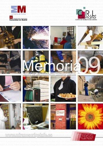 """C.R.L. """"Getafe"""" – Memoria 2009 – Gestión Técnica INTRESS"""