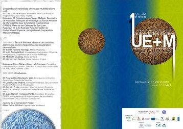 1r Fórum Autorités Locales UE-Maroc-Programme - Medcities