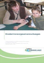Kindervorsorgeuntersuchungen - Landkreis Ammerland