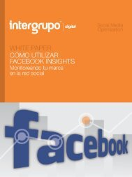 Descargar white paper Cómo utilizar Facebook Insights. - Intergrupo