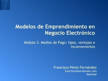 Modelos de Emprendimiento en Negocio Electrónico
