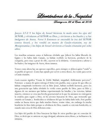 Libertándonos de la Iniquidad - Iglesia de Cristo Ebenezer Honduras