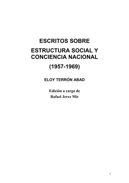 Escritos Sobre Estructura Social Y Conciencia Nacional