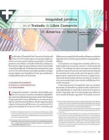 Iniquidad jurídica en el Tratado de Libre Comercio - revista de ...