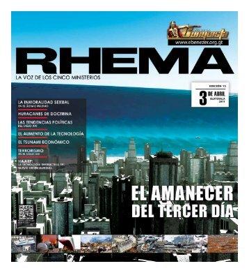 Descargar Revista Rhema3.36 MB - Ministerios Ebenezer Guatemala