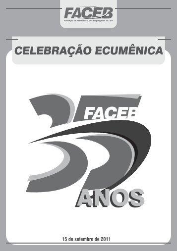 Folheto da Celebração Ecumênica - FACEB