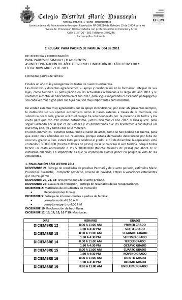 Colegio Distrital Marie Poussepin