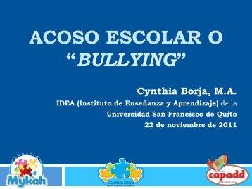 bullying - Instituto de Enseñanza y Aprendizaje