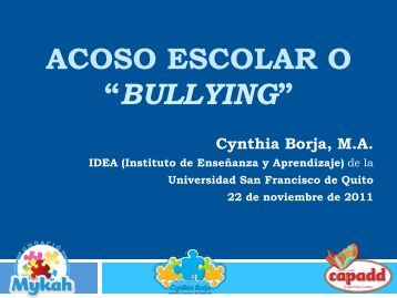bullying - Instituto de Enseñanza y Aprendizaje