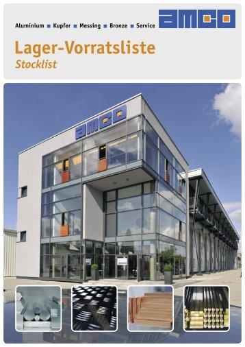 Lagerliste 2011 - AMCO Metall-Service Gmbh