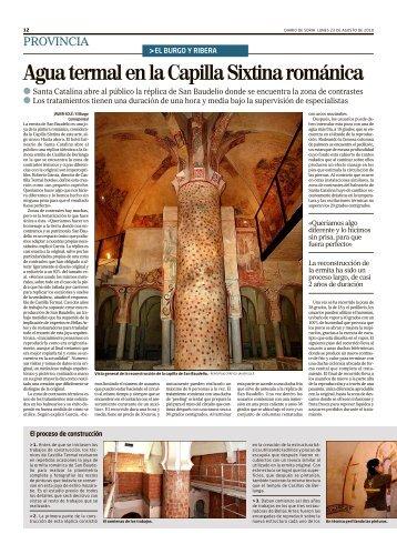 Diario de Soria 23 de agosto 2010 - Castilla Termal Hoteles