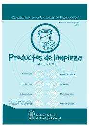 Productos de limpieza - INTI