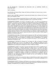Ley de Estímulos y Sanciones en relación con la campaña contra el ...