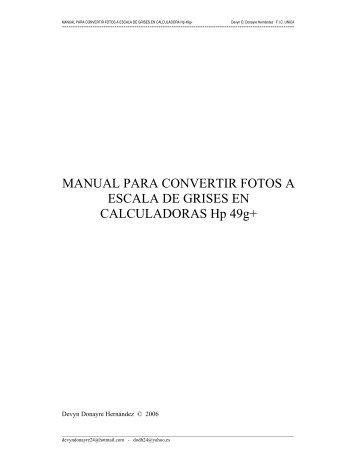 manual para convertir fotos a escala de grises en