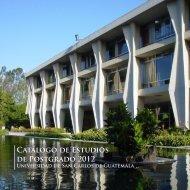 Postgrados y Especialidades - Universidad de San Carlos de ...