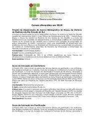 Cursos oferecidos em 2010 - IFRS Câmpus Porto Alegre