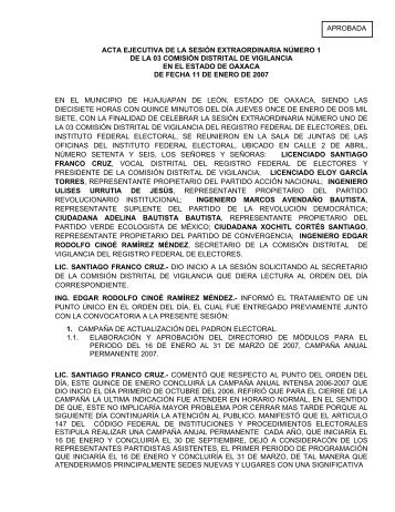 acta ejecutiva de la sesin ordinaria numero 146 - Instituto Federal ...