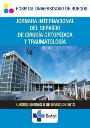 jornada internacional del servicio de cirugía ortopédica y ... - secca