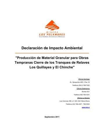 Documento DIA - SEA - Servicio de evaluación ambiental