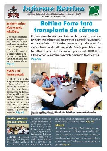 Edição n° 5. Ano 2011 - Hospital Bettina - Universidade Federal do ...