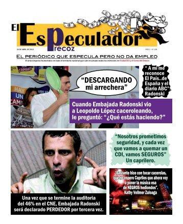 Descarga aquí el PDF Especulador 24/04/13 - Ciudad CCS
