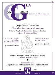 La Gaceta del FCE, octubre de 2003 - Fondo de Cultura Económica