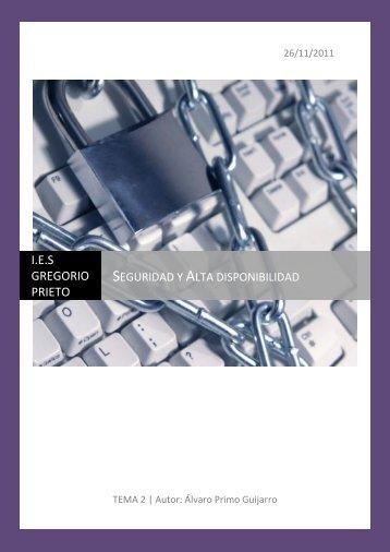 Seguridad y Alta disponibilidad - alvaroprimoguijarro