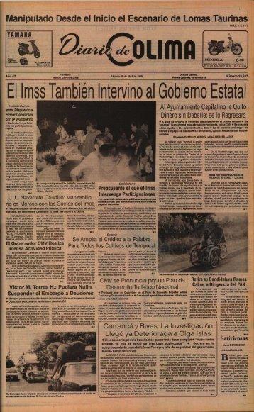 El ImssTambién Intervino alGobierno Estatal - Universidad de Colima