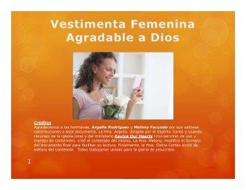 La Vestimenta Femenina Agradable a Dios - Iglesia El Sembrador