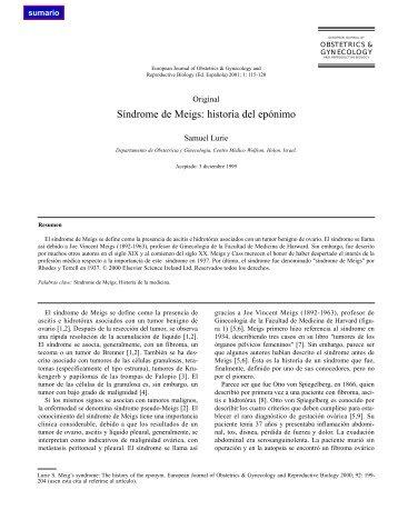 Síndrome de Meigs: historia del epónimo - El Médico Interactivo