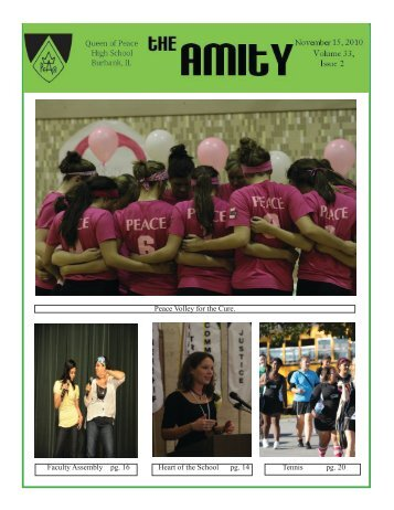 November '10 Issue - Queen of Peace High School